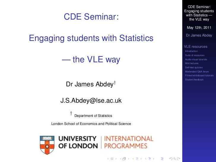 CDE Seminar:                                                        Engaging students            CDE Seminar:             ...