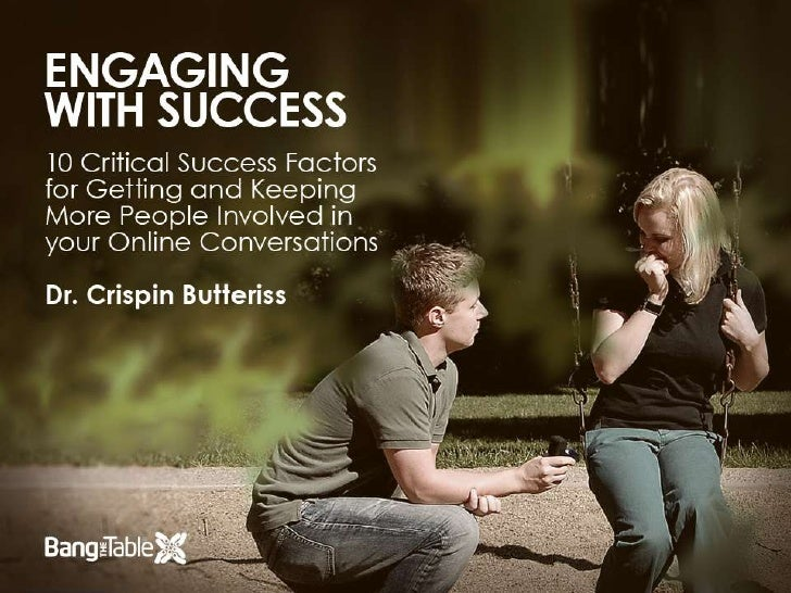 Engaging with Success: 10 Critical Success Factors for Getting and Keeping More Peole Involved in your Online Conversations