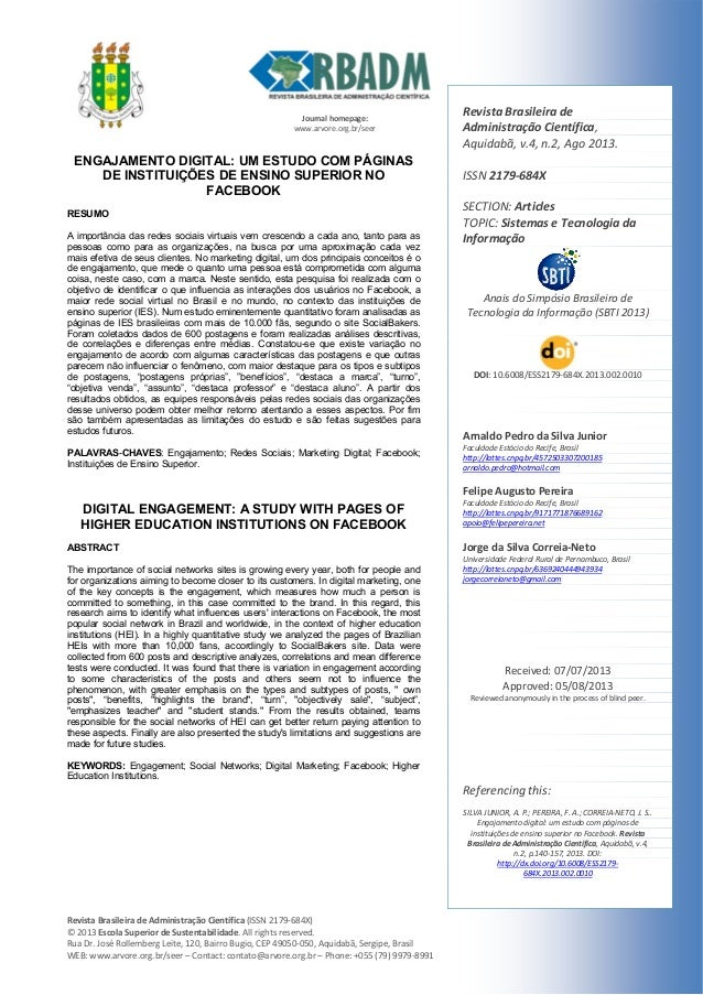 Journalhomepage: www.arvore.org.br/seer  RevistaBrasileiradeAdministraçãoCientífica(ISSN2179‐684X) ©201...