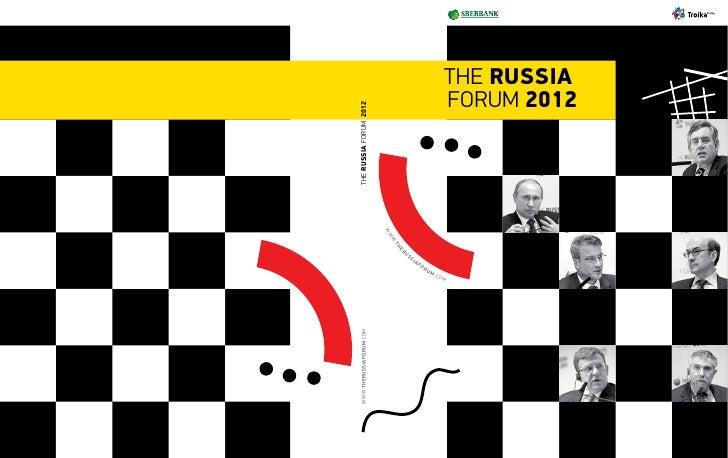 www.therussiaforum.com                                    the russia forum 2012                                           ...