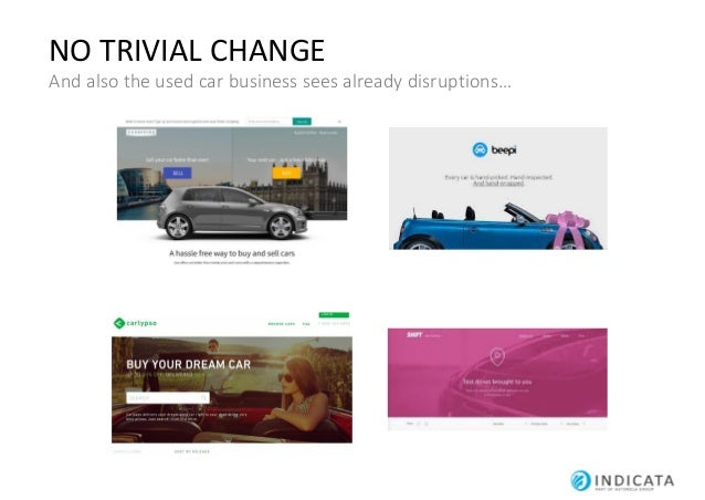 NO TRIVIAL CHANGE And also the used car business sees already disruptions…