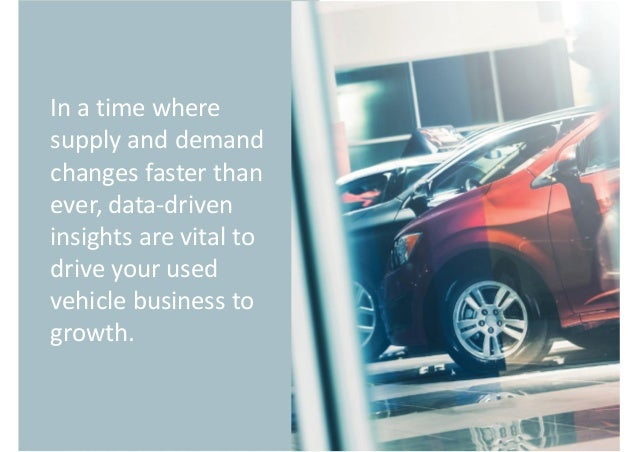 Actionable Metrics & Insights DATA-DRIVEN INSIGHTS Monitor real-time data to improve used car performance
