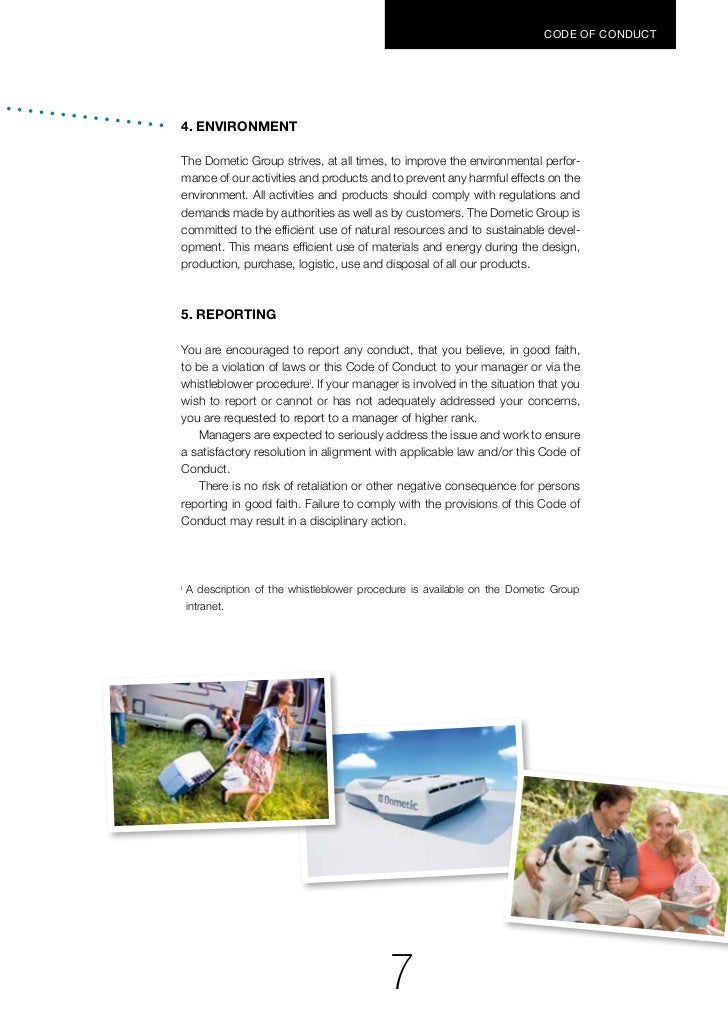 Dometic Group Code Of Conduct