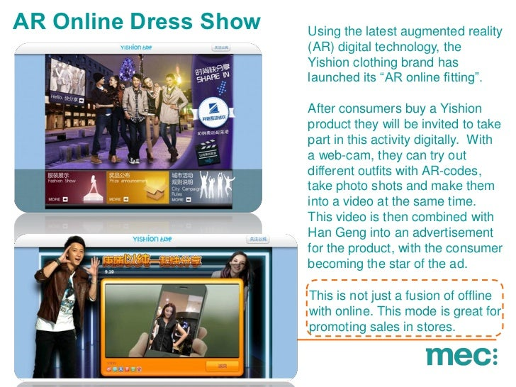 AR Online Dress Show   Using the latest augmented reality                       (AR) digital technology, the              ...