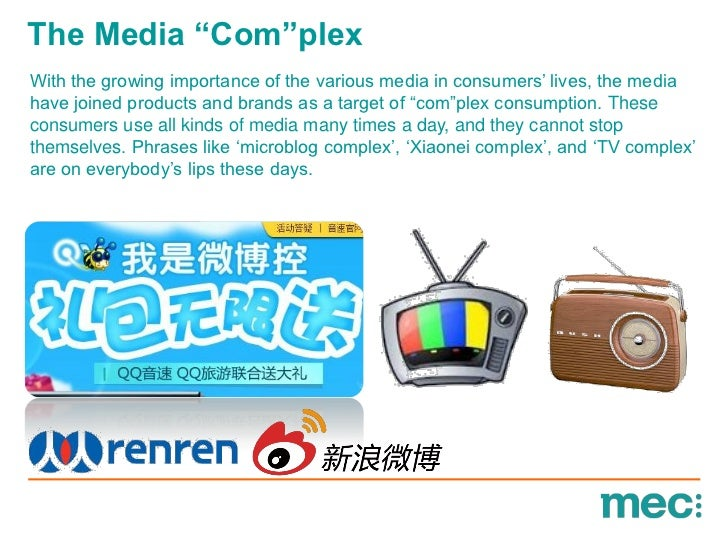 """The Media """"Com""""plexWith the growing importance of the various media in consumers"""" lives, the mediahave joined products and..."""