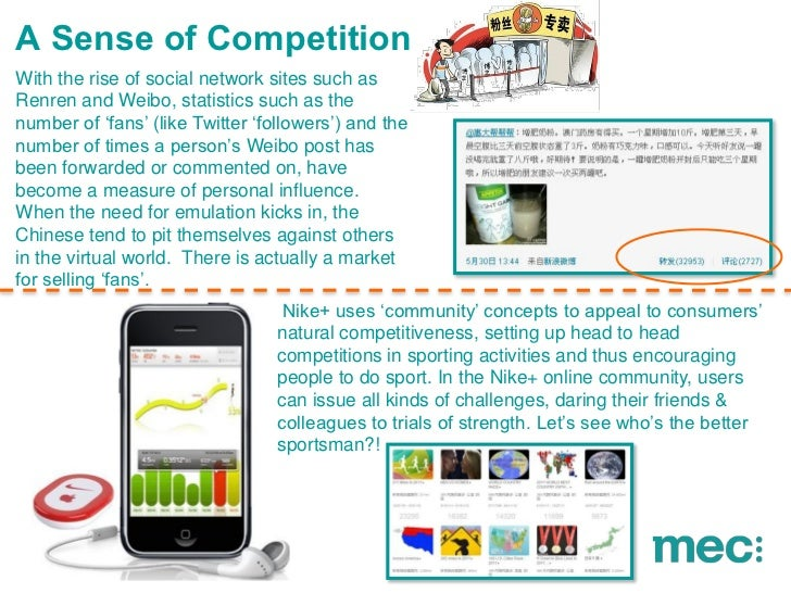 """A Sense of CompetitionWith the rise of social network sites such asRenren and Weibo, statistics such as thenumber of """"fans..."""