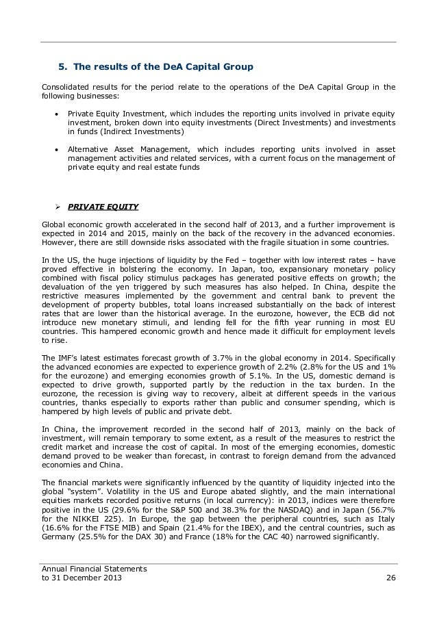 Dea capital financial statements to 31 december 2013 26 fandeluxe Image collections