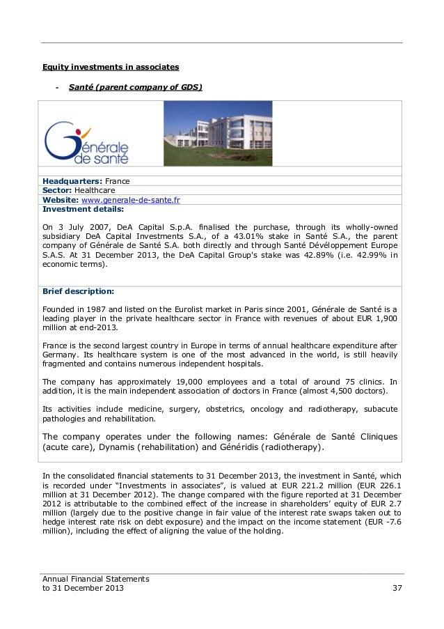 Dea capital financial statements to 31 december 2013 37 fandeluxe Images