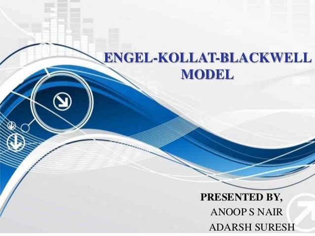 ENGEL-KOLLAT-BLACKWELL MODEL PRESENTED BY, ANOOP S NAIR ADARSH SURESH