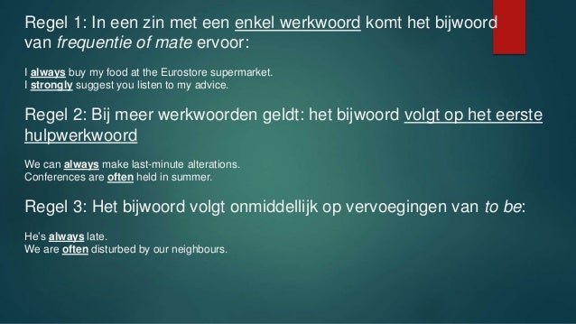 Woordvolgorde Engels M. Van Eijk