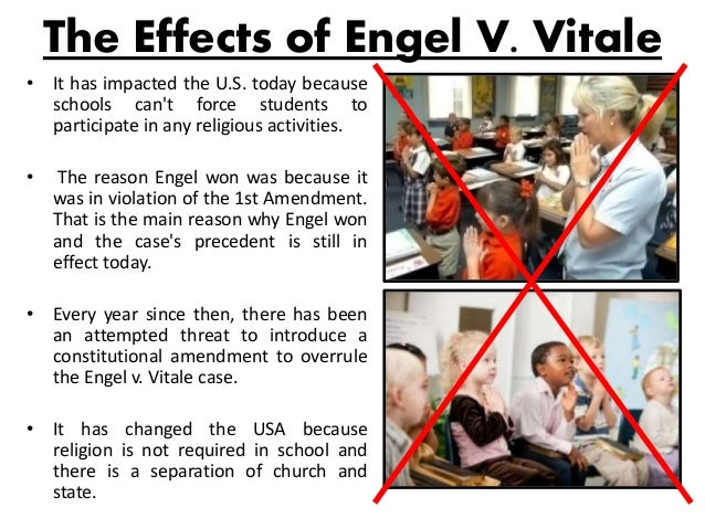 supreme court case: engel v. vitale analysis essay Introduction to the engel v vitale court case  the state's highest  court upheld the use of the prayer, on the grounds that state law did not force.