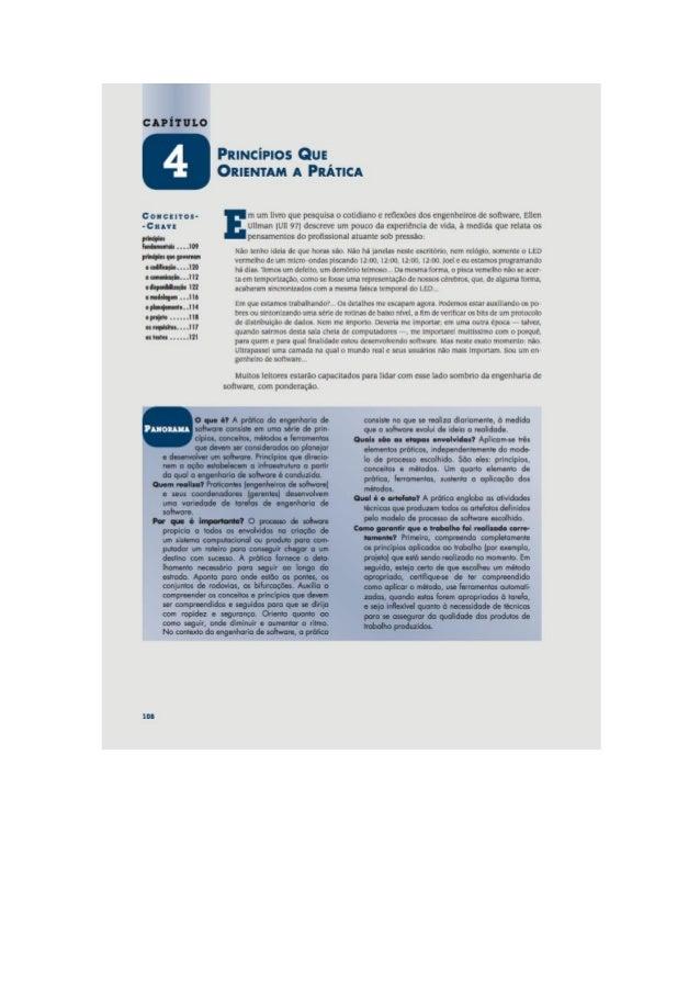 Engenharia de software 7° edição roger s.pressman capítulo 4