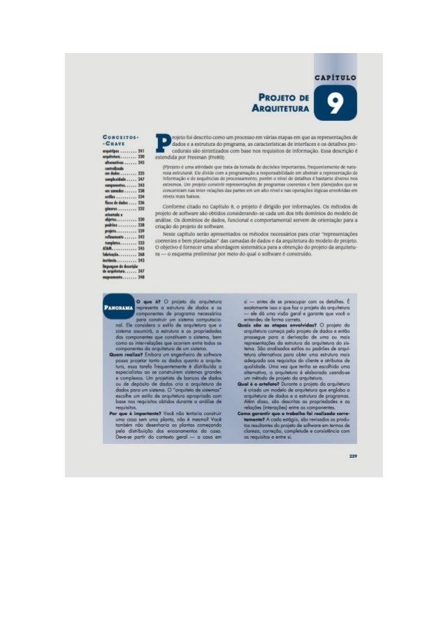 Engenharia de software 7° edição roger s.pressman capítulo 9
