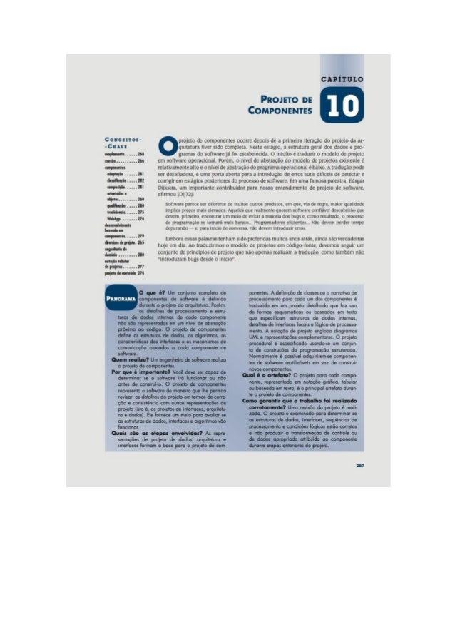 Engenharia de software 7° edição roger s.pressman capítulo 10