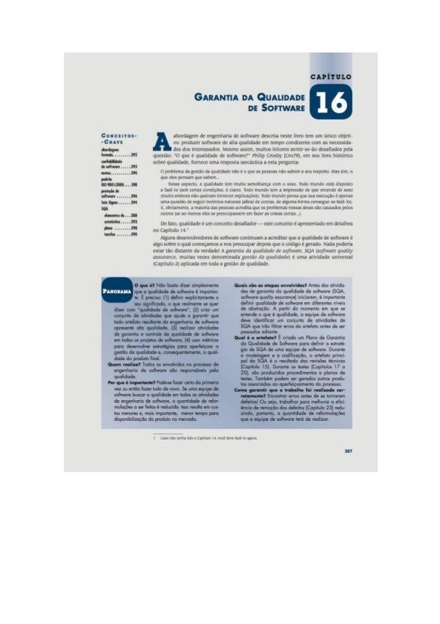 Engenharia de software 7° edição roger s.pressman capítulo 16