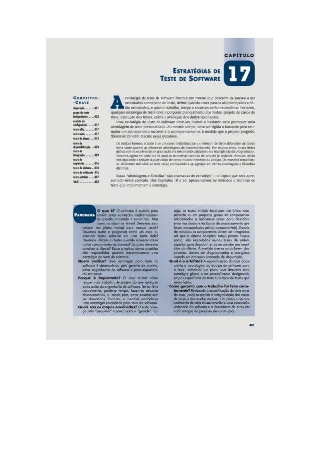Engenharia de software 7° edição roger s.pressman capítulo 17