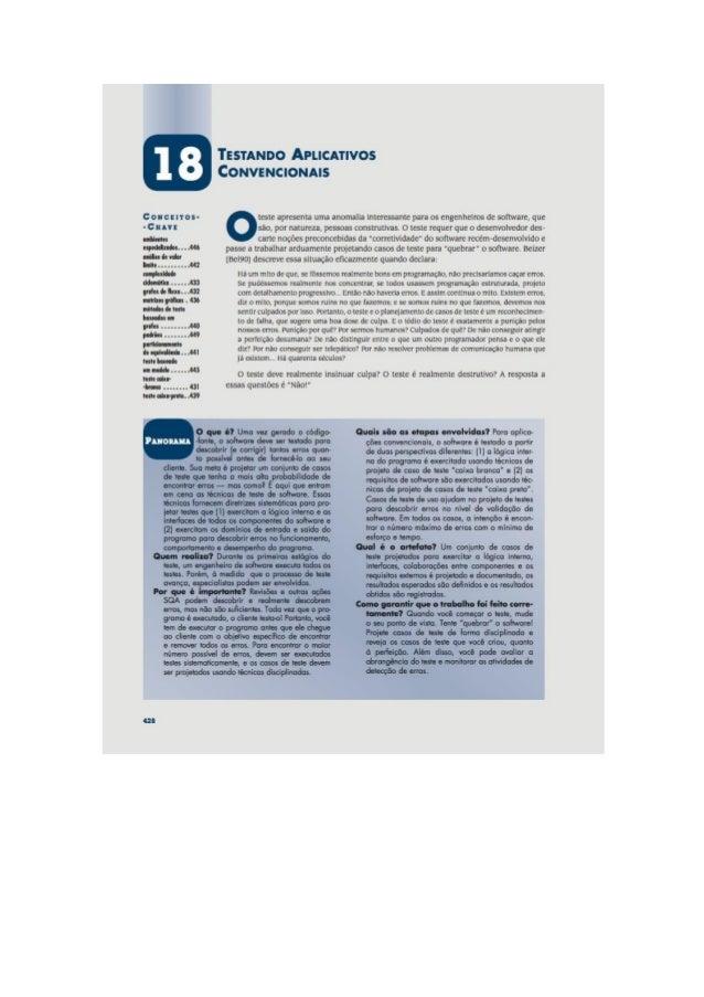 Engenharia de software 7° edição roger s.pressman capítulo 18