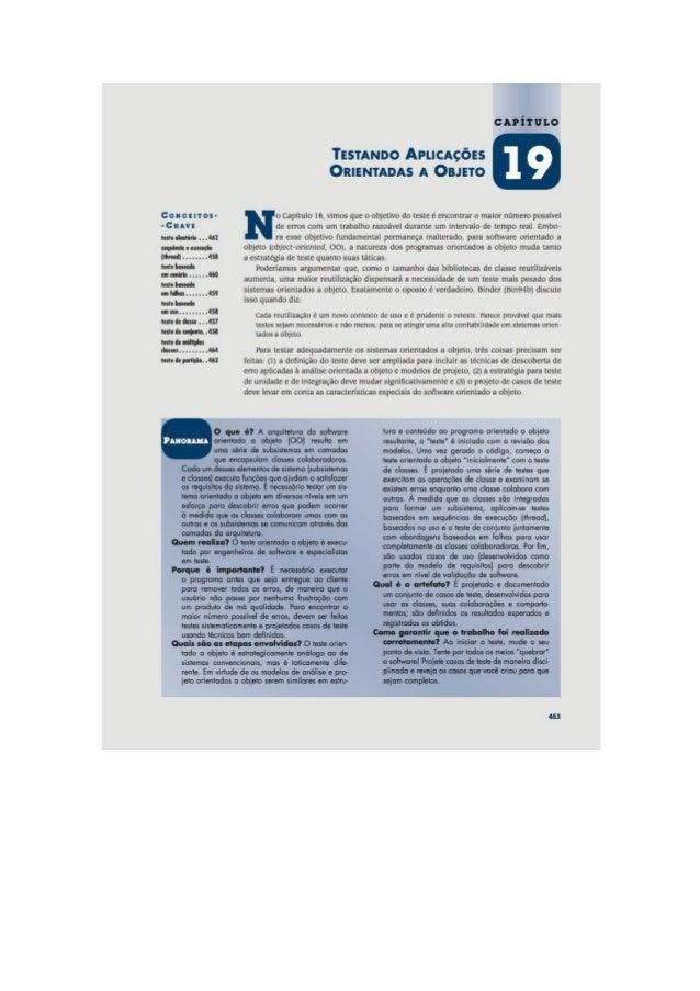 Engenharia de software 7° edição roger s.pressman capítulo 19