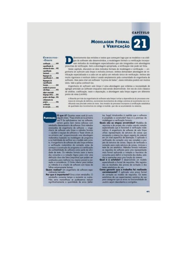 Engenharia de software 7° edição roger s.pressman capítulo 21