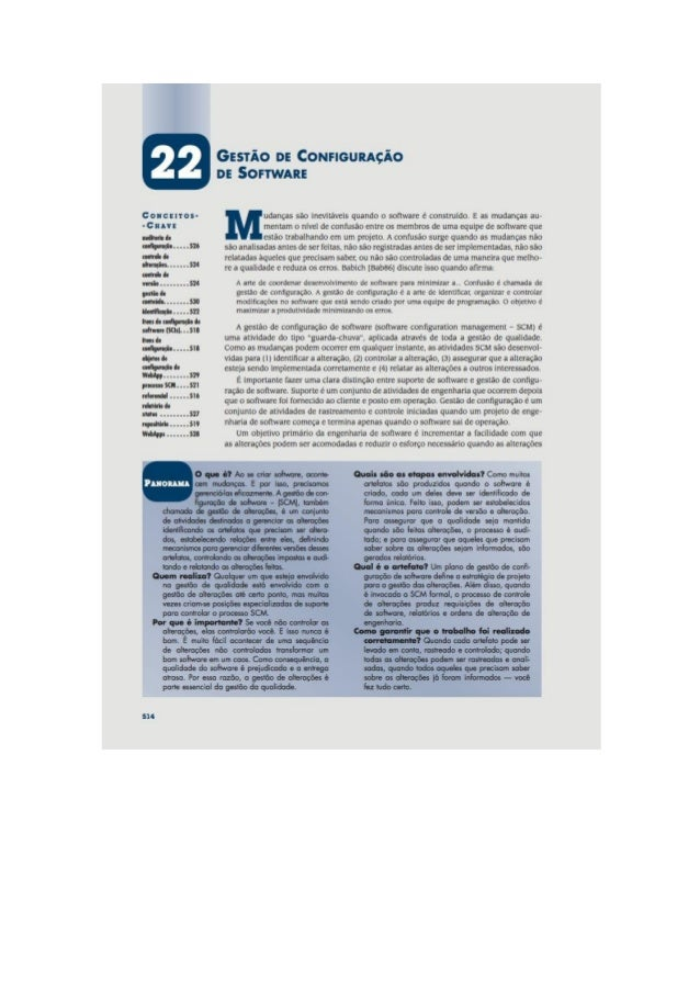 Engenharia de software 7° edição roger s.pressman capítulo 22