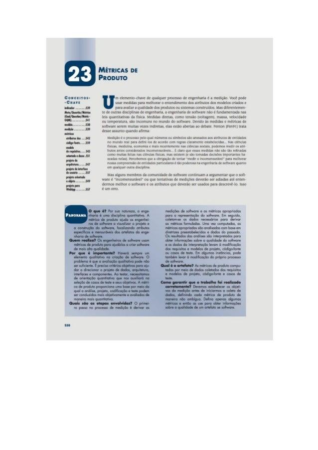 Engenharia de software 7° edição roger s.pressman capítulo 23