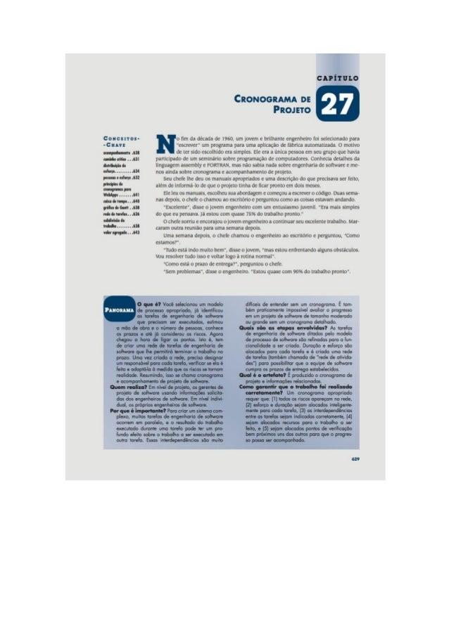 Engenharia de software 7° edição roger s.pressman capítulo 27