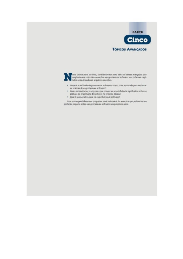 Engenharia de software 7° edição roger s.pressman capítulo 30
