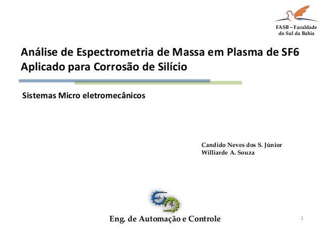 Sistemas Micro eletromecânicos  1  Candido Neves dos S. Júnior  Williarde A. Souza  Eng. de Automação e Controle  FASB – F...