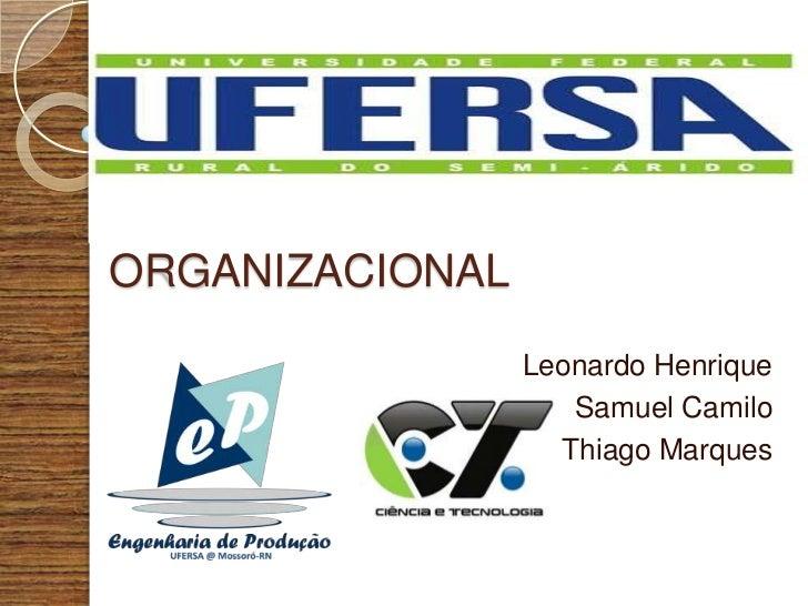 ENGENHARIAORGANIZACIONAL                 Leonardo Henrique                    Samuel Camilo                   Thiago Marques