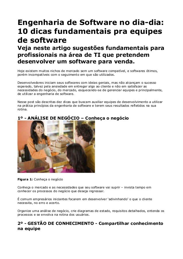 Engenharia de Software no dia-dia:10 dicas fundamentais pra equipesde softwareVeja neste artigo sugestões fundamentais par...