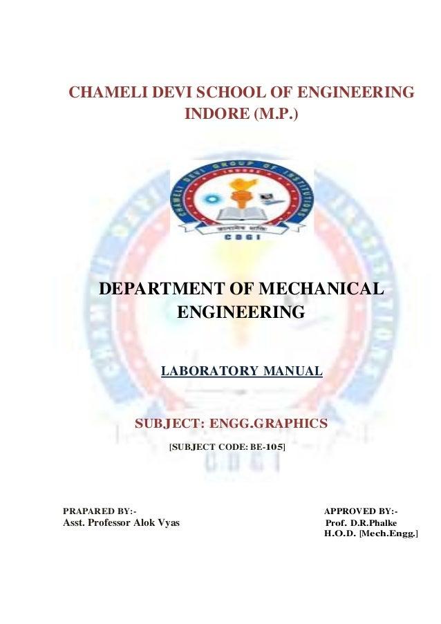 engineering drawing lab Engineering drawing  me 111  1-0-3-5 1 instructors: mechanical engg civil engg dr s n joshi dr akhilesh kumar maurya.