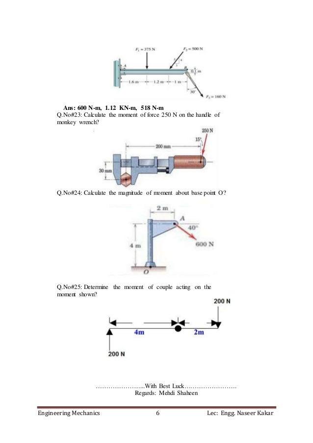 Engineering Mechanics Questions