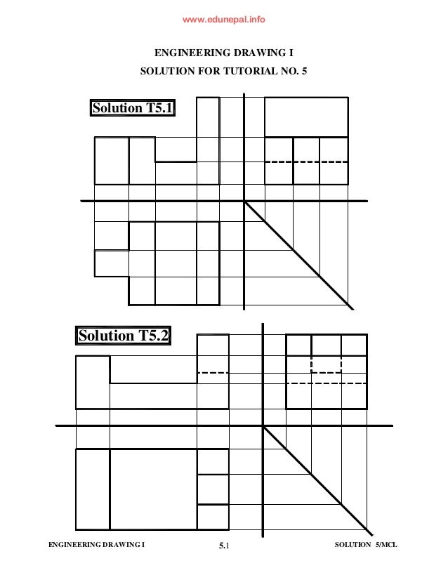 Engg drawing-i-tutorial-solution