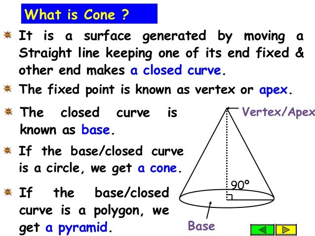 It is a surface generated by moving a Straight line keeping one of its end fixed & other end makes a closed curve. What is...