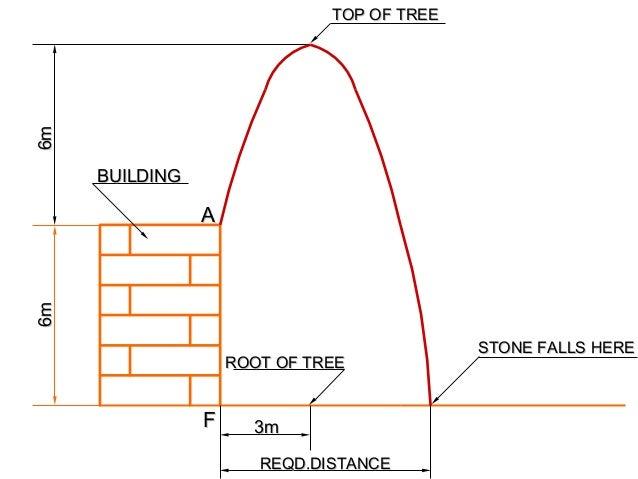 6m6m ROOT OF TREEROOT OF TREE BUILDINGBUILDING REQD.DISTANCEREQD.DISTANCE TOP OF TREETOP OF TREE 3m3m 6m6m FF AA STONE FAL...