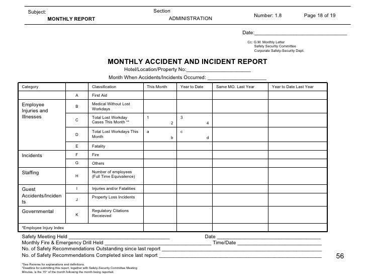 Engineering SOP – End of Month Report Template