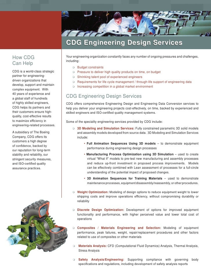 CDG Engineering Design Services  How CDG                           Your engineering organization constantly faces any numb...
