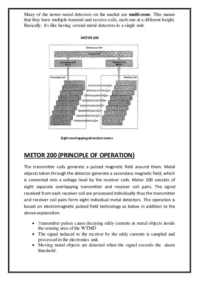 airport authority of india training manual rh slideshare net Basic Metal Detector Bounty Hunter Metal Detectors