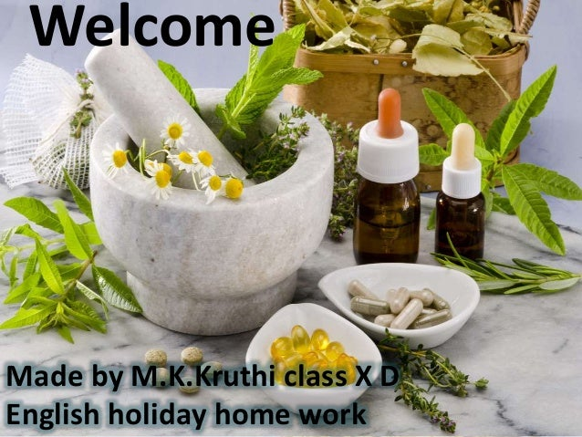 Welcome Made by M.K.Kruthi class X D English holiday home work