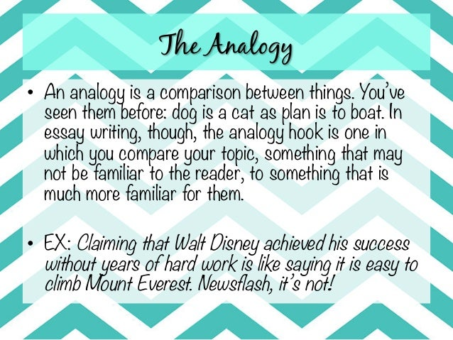 Analogy essay sample