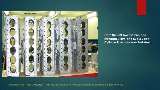 Engine block manufacturing process