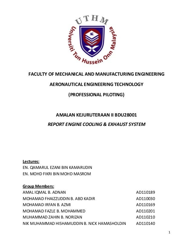 1FACULTY OF MECHANICAL AND MANUFACTURING ENGINEERINGAERONAUTICAL ENGINEERING TECHNOLOGY(PROFESSIONAL PILOTING)AMALAN KEJUR...
