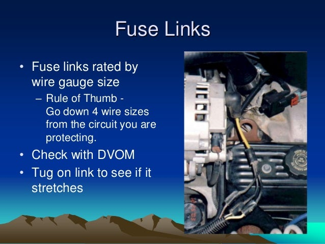 Engine electrical systems fuse links fuse links rated by wire gauge keyboard keysfo Image collections