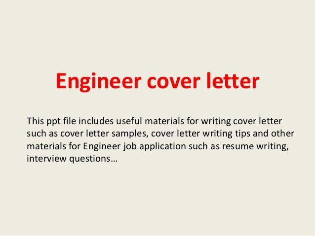 Engineering Job Cover Letter | Resume CV Cover Letter