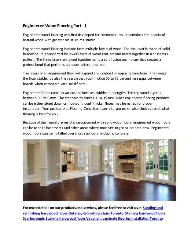 Engineered Wood Flooring Part 1