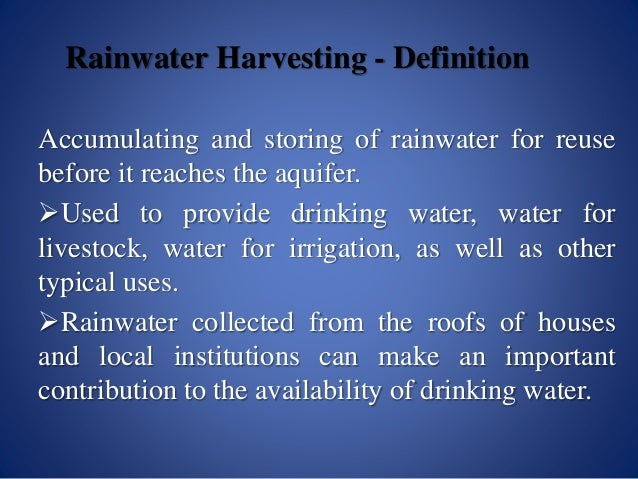 Engineer hamza rainwater harvesting for Explanation of rainwater harvesting