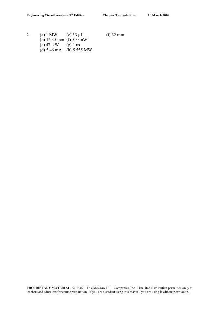 Engineering circuit-analysis-solutions-7ed-hayt [upload by r1-lher Slide 2