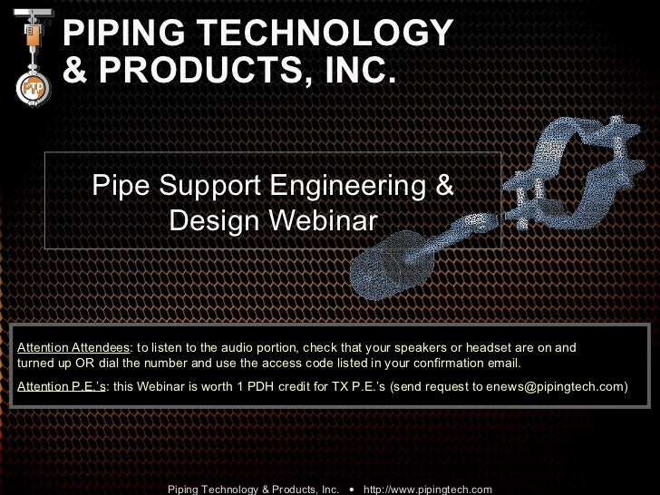 Pipe Support Engineering & Design