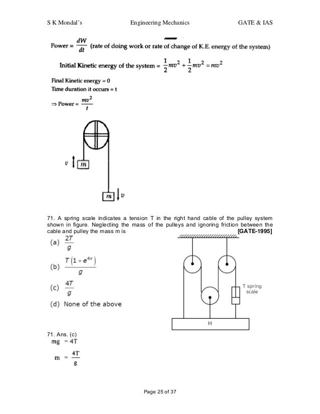 Engineering mechanics-question-and-answers-for-gate-ias