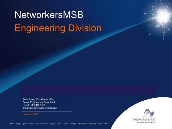 NetworkersMSB  Engineering Division